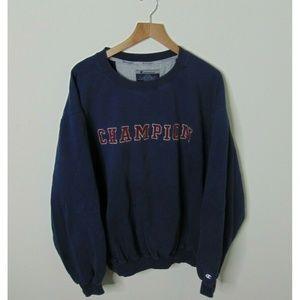 Vintage Champion XL Crewneck Sweatshirt Blue Red